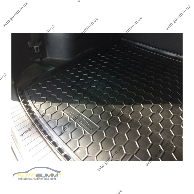 Автомобильный коврик в багажник Hyundai Santa Fe 2006-2012 7 мест (Avto-Gumm)