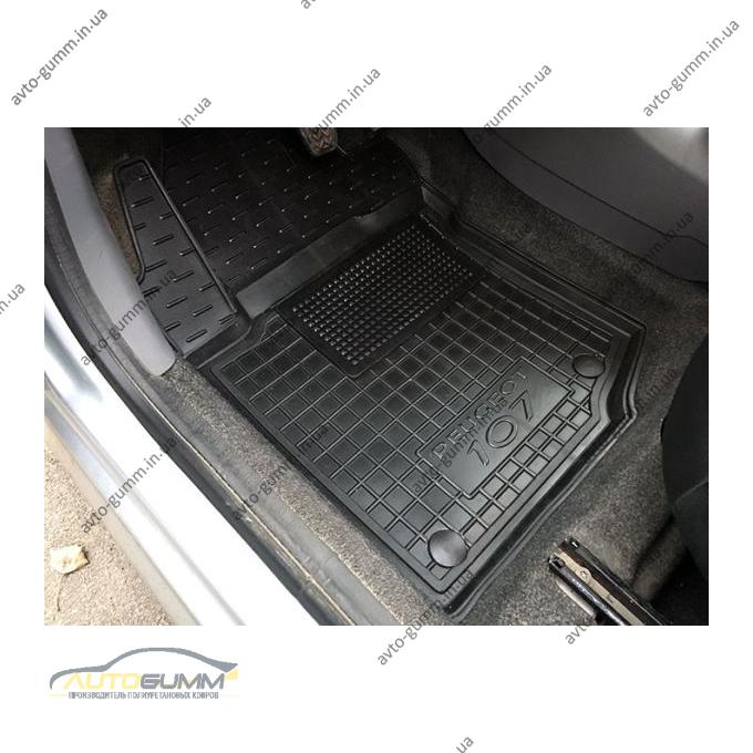 Водительский коврик в салон Peugeot 107 2005- (Avto-Gumm)