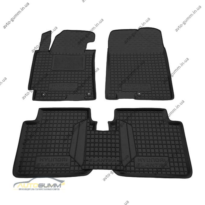 Автомобильные коврики в салон Hyundai Elantra 2011-2014 (MD) (Avto-Gumm)