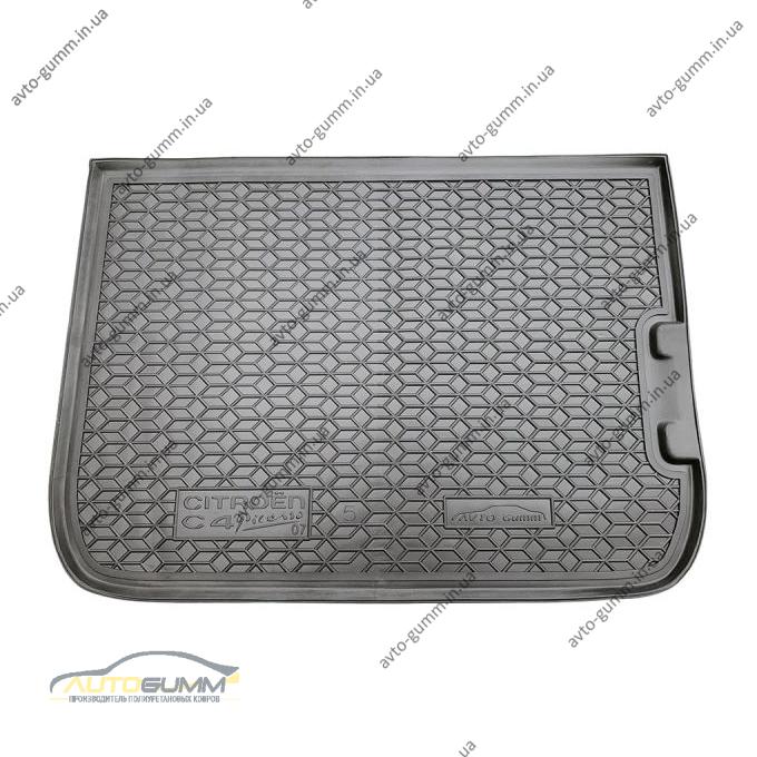 Автомобильный коврик в багажник Citroen C4 Picasso 2007- 5 мест (Avto-Gumm)