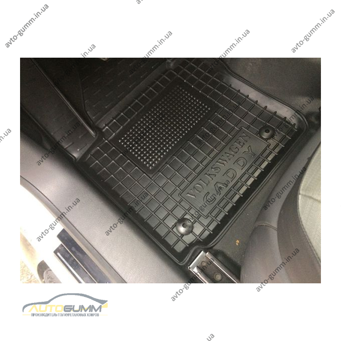 Водительский коврик в салон Volkswagen Caddy 2004- (Avto-Gumm)