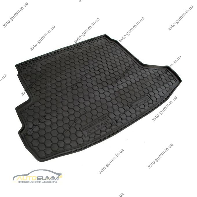 Автомобильный коврик в багажник Nissan X-Trail (T31) 2007- (с полкой) (Avto-Gumm)