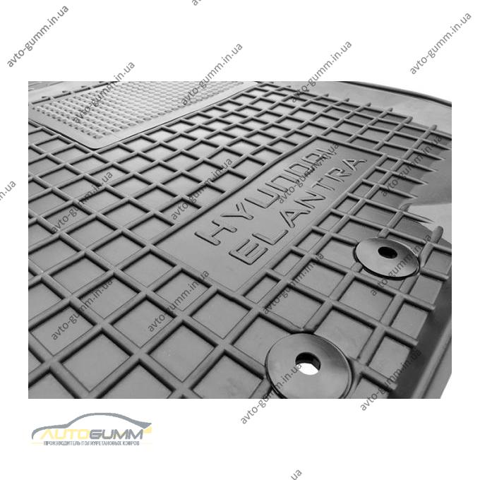 Водительский коврик в салон Hyundai Elantra 2006-2011 (HD) (Avto-Gumm)