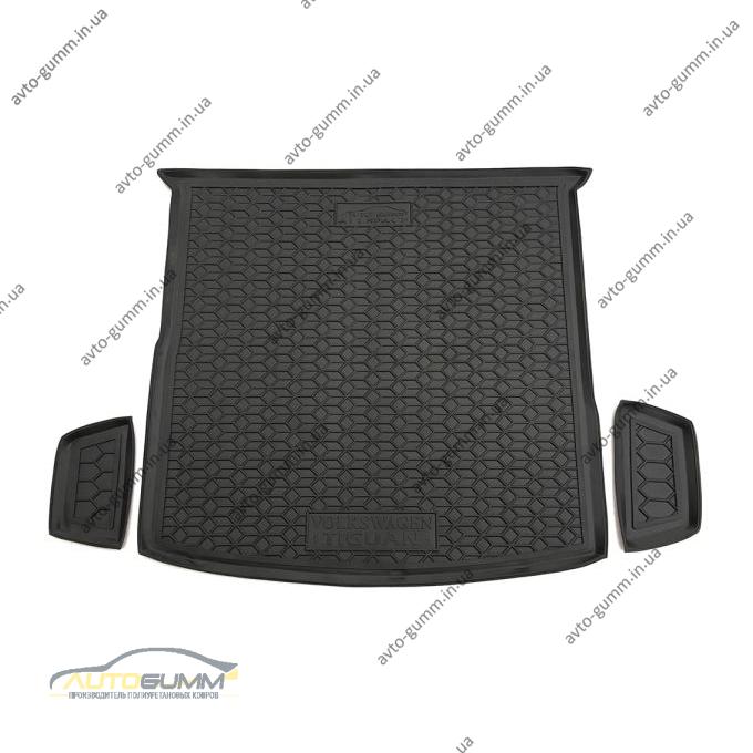 Автомобильный коврик в багажник Volkswagen Tiguan Allspace 2018- 5 мест (Avto-Gumm)