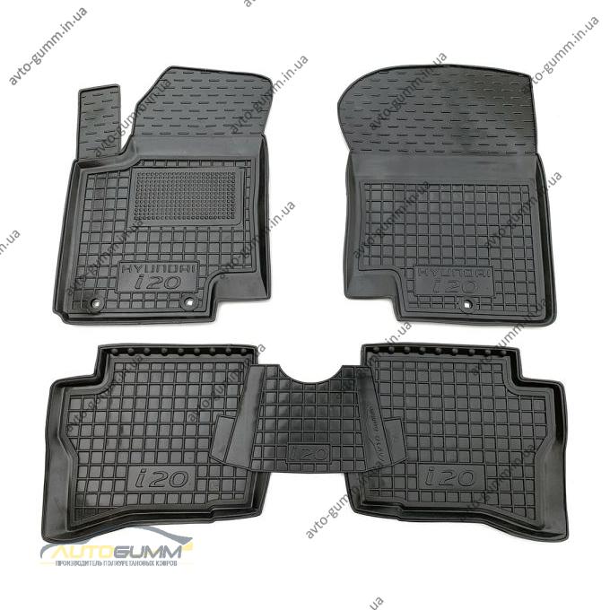 Автомобільні килимки в салон Hyundai i20 2008-2015 (Avto-Gumm)