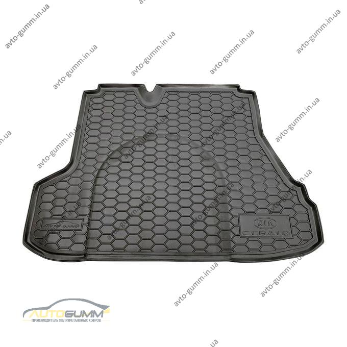 Автомобильный коврик в багажник Kia Cerato 2004- Sedan (Avto-Gumm)