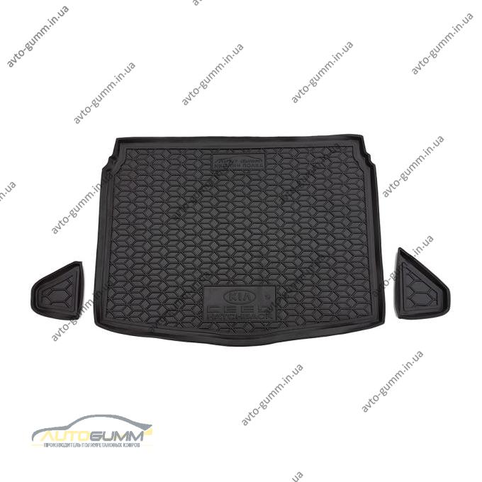 Автомобильный коврик в багажник Kia Ceed 2019- Hb (нижняя полка) (Avto-Gumm)
