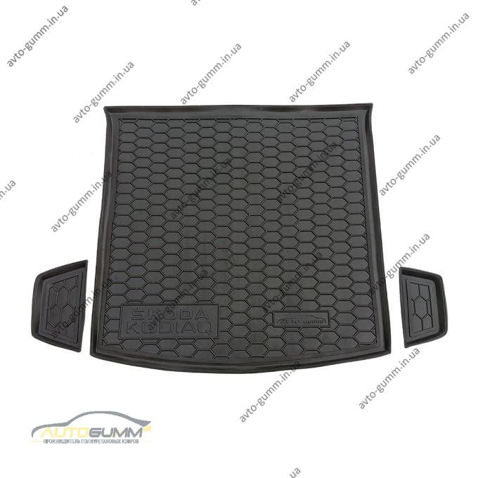 Автомобильный коврик в багажник Skoda Kodiaq 2017- 5 мест (Avto-Gumm)