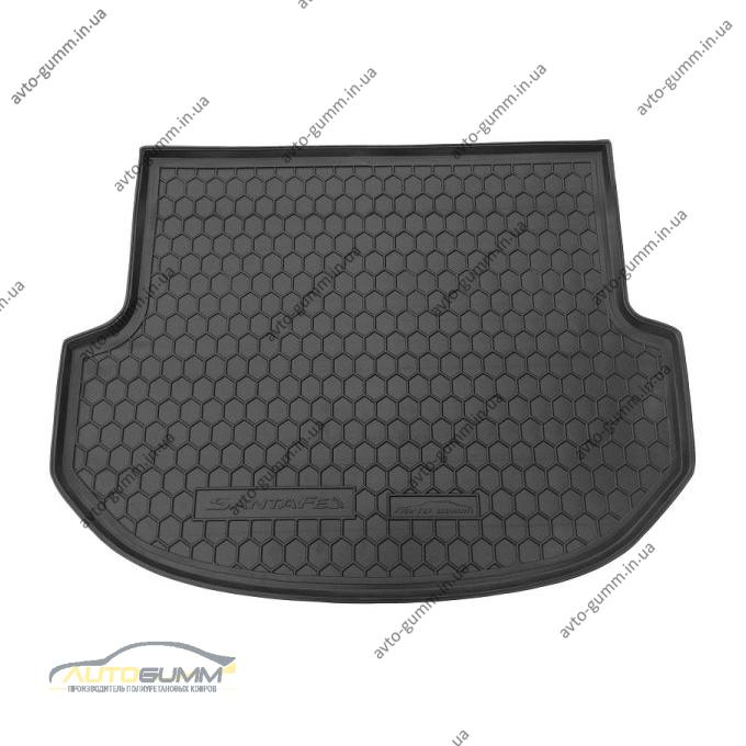 Автомобильный коврик в багажник Hyundai Santa Fe (DM) 2012- 5 мест (Avto-Gumm)