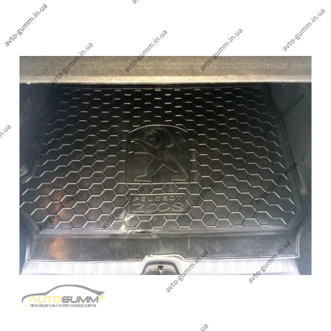 Автомобильный коврик в багажник Peugeot 2008 2014- (Avto-Gumm)