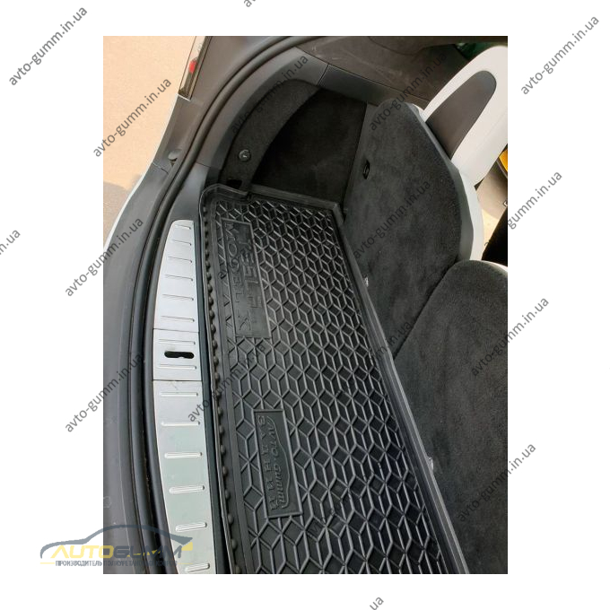 Автомобильный коврик в багажник Tesla Model X 2016- короткий (Avto-Gumm)