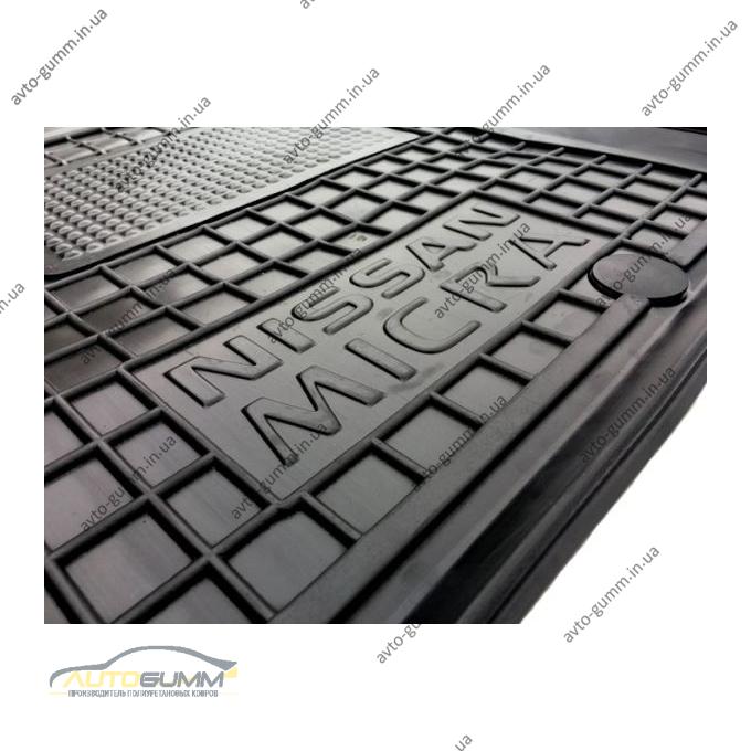 Водительский коврик в салон Nissan Micra (K13) 2010- (Avto-Gumm)
