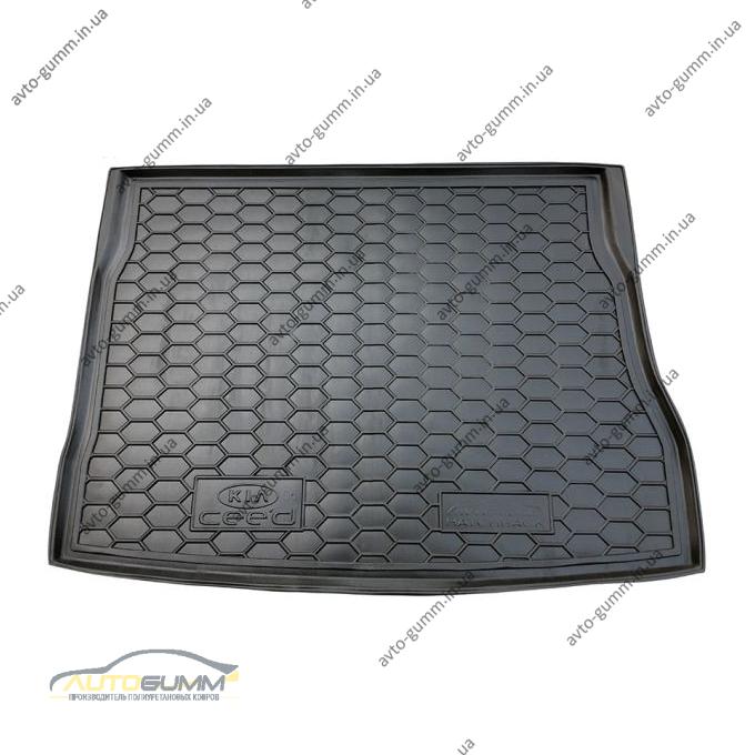Автомобильный коврик в багажник Kia Ceed 2006- Hatchback (Avto-Gumm)