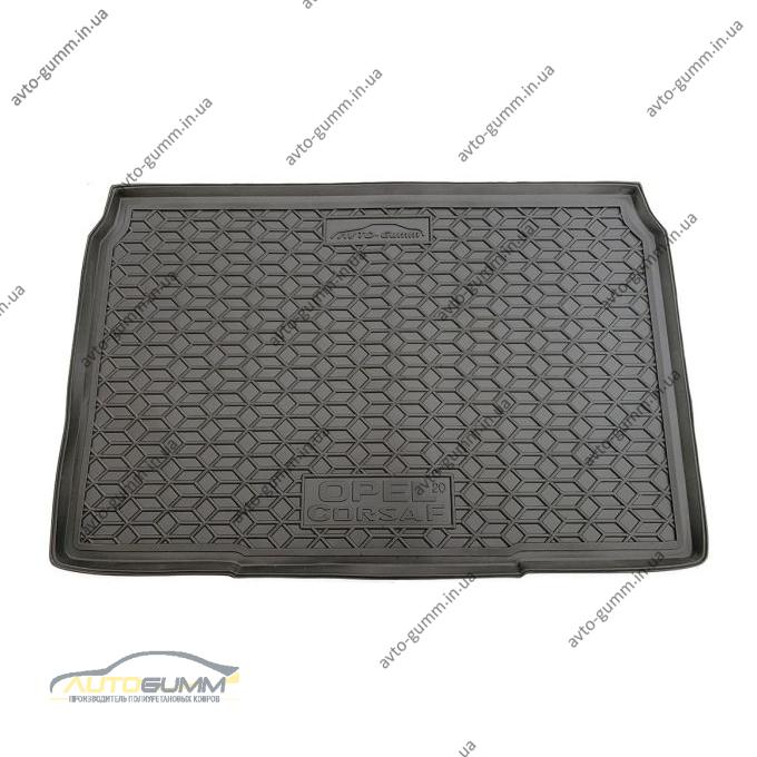 Автомобильный коврик в багажник Opel Corsa F 2020- (Avto-Gumm)