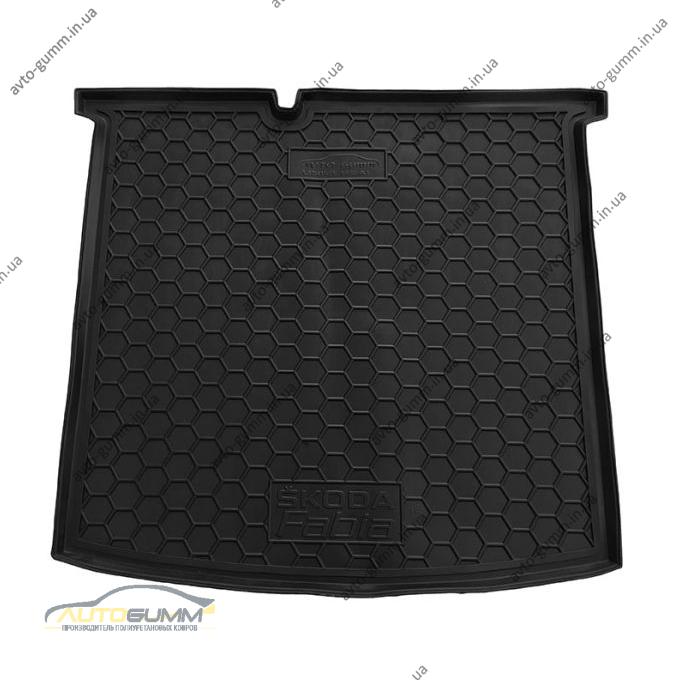 Автомобильный коврик в багажник Skoda Fabia 3 2015- Universal (Avto-Gumm)