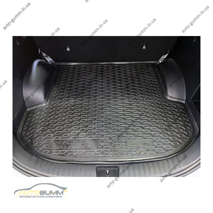Автомобильный коврик в багажник Hyundai Santa Fe 2018- 5 мест (Avto-Gumm)
