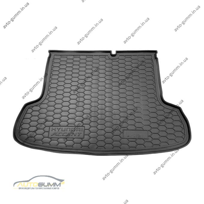 Автомобильный коврик в багажник Hyundai Accent 2006- Sedan (Avto-Gumm)