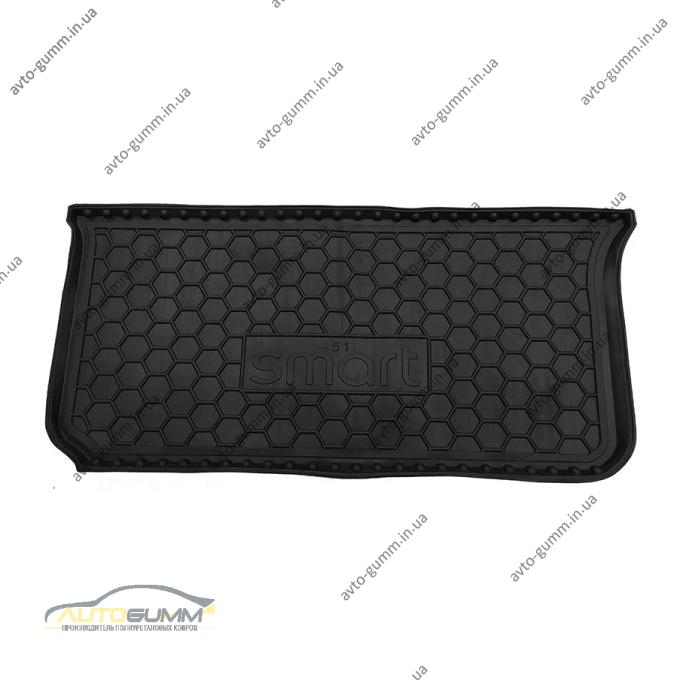 Автомобильный коврик в багажник Smart Fortwo 451 2007- (Avto-Gumm)