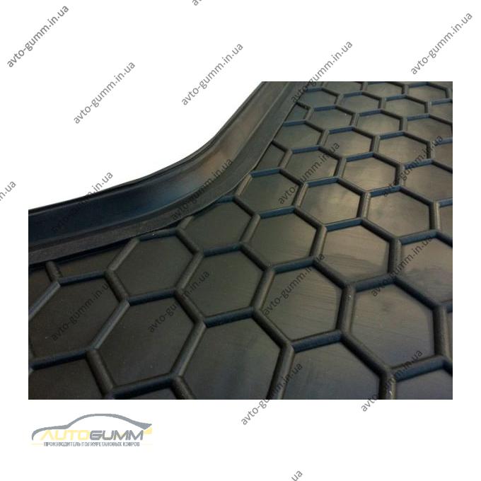 Автомобильный коврик в багажник Kia Rio 2017- Hatchback (верхняя полка) (Avto-Gumm)