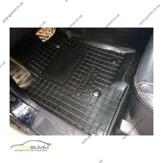 Водительский коврик в салон Mitsubishi Pajero Wagon 3/4 99-/07- (Avto-Gumm)