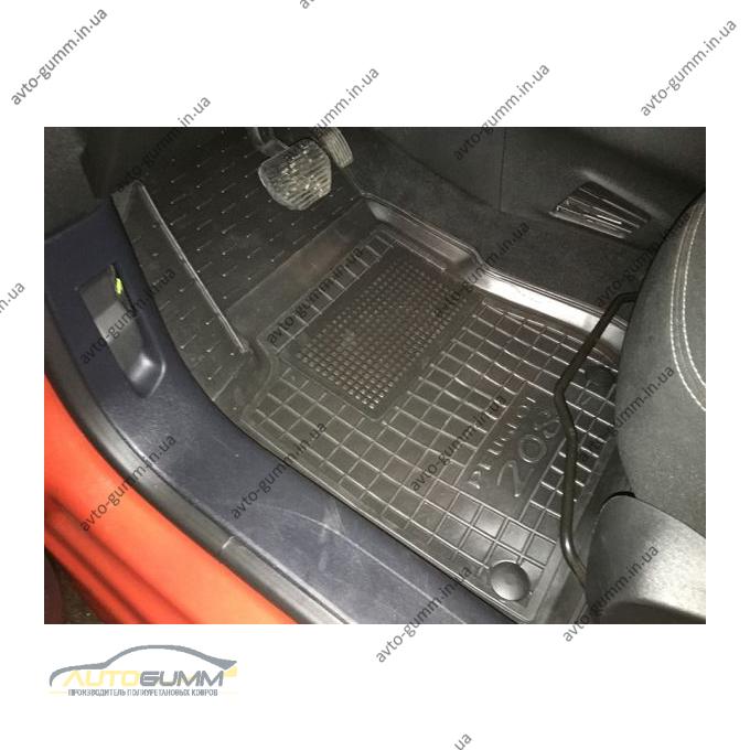 Водійський килимок в салон Peugeot 208 2013- (Avto-Gumm)