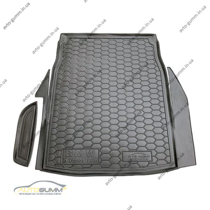 Автомобильный коврик в багажник BMW 5 (E60) 2003-2010 Sedan (Avto-Gumm)