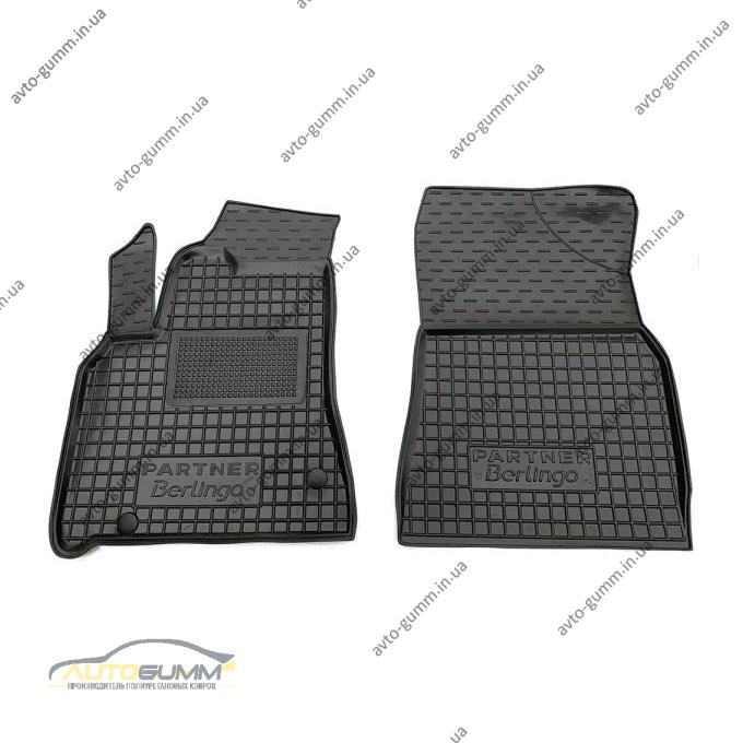 Автомобильные коврики в салон Citroen Berlingo 08-/Peugeot Partner 08- 1+2 (Avto-Gumm)