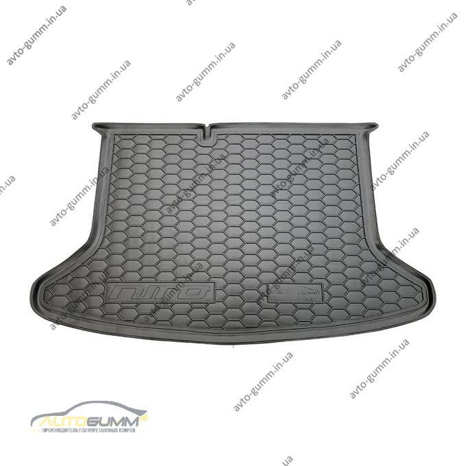 Автомобильный коврик в багажник Kia Niro 2018- без органайзера (Avto-Gumm)