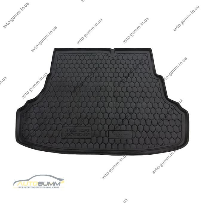 Автомобильный коврик в багажник Hyundai Accent (RB) 2011- (Avto-Gumm)