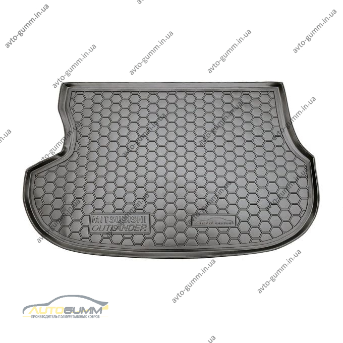 Автомобильный коврик в багажник Mitsubishi Outlander 2003-2007 (Avto-Gumm)
