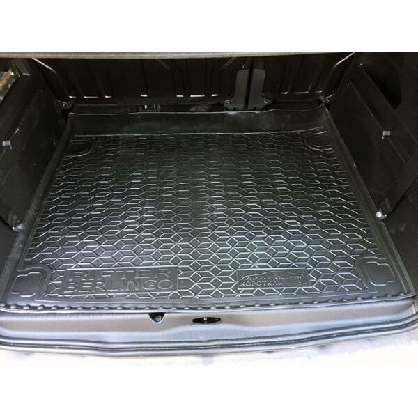 Автомобильный коврик в багажник Peugeot Rifter 2019-/Citroen Berlingo 2019- короткая база (Avto-Gumm)