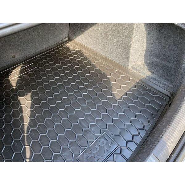 Автомобильный коврик в багажник Audi A4 (B6/B7) 2001- Sedan (Avto-Gumm)