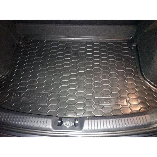 Автомобильный коврик в багажник Hyundai i30 2017- Hatchback (Avto-Gumm)