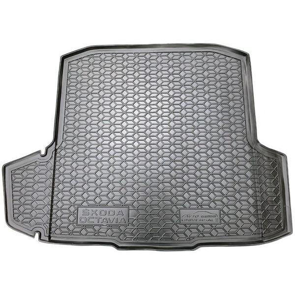 Автомобильный коврик в багажник Skoda Octavia A7 2013- Universal (с ушами) (Avto-Gumm)