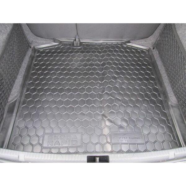 Автомобильный коврик в багажник Skoda Rapid 2013- Liftback (Avto-Gumm)