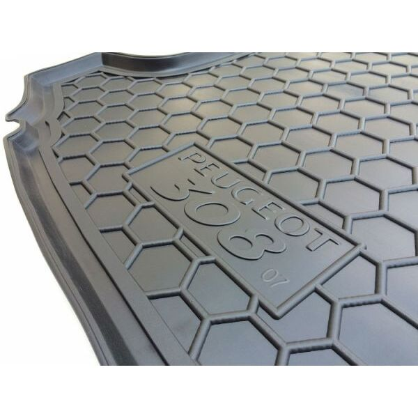 Автомобильный коврик в багажник Peugeot 308 2008- Universal (7 мест) (Avto-Gumm)