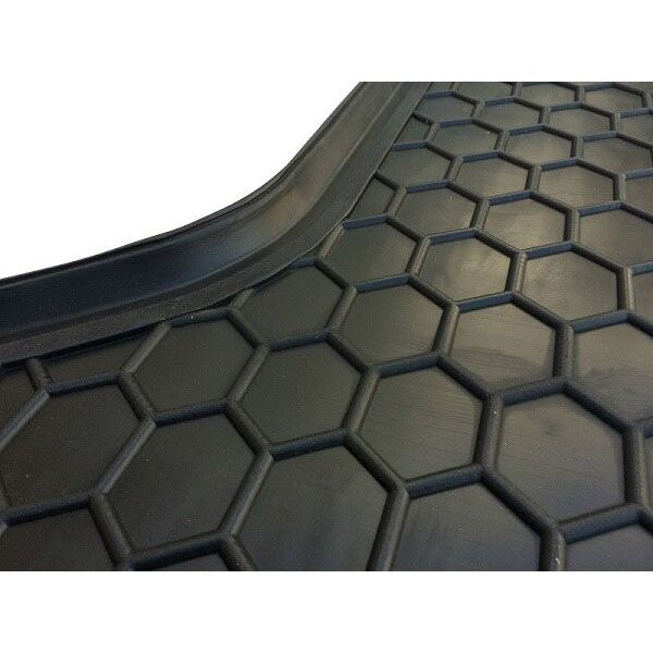 Автомобильный коврик в багажник Hyundai Accent (RB) 2011- цельная спинка (Avto-Gumm)