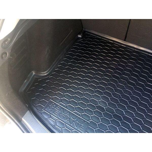Автомобильный коврик в багажник Renault Megane 3 2009- Universal (с ушами) (Avto-Gumm)
