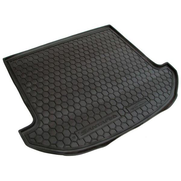 Автомобильный коврик в багажник Hyundai Santa Fe (DM) 2012- 7 мест (Avto-Gumm)