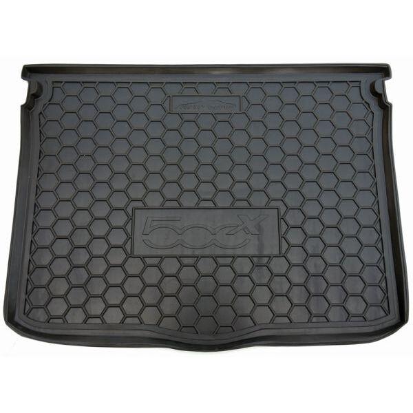 Автомобильный коврик в багажник Fiat 500X 2015- (Avto-Gumm)