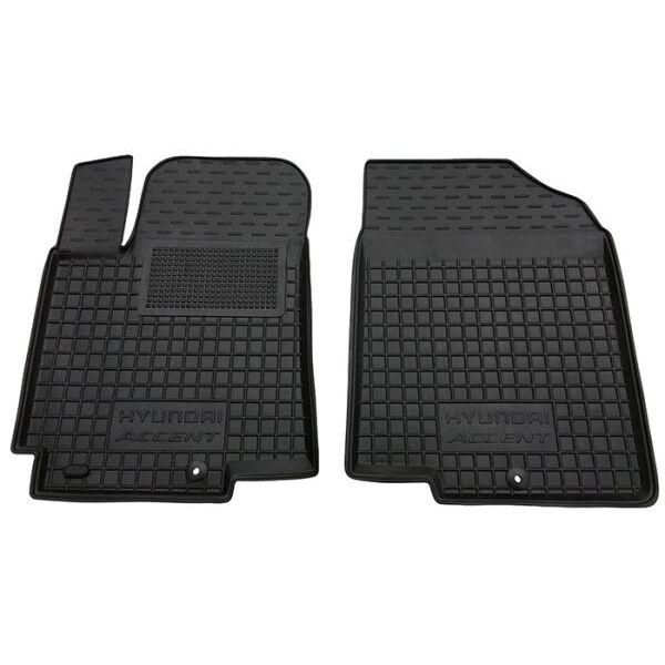 Передние коврики в автомобиль Hyundai Accent 2011- (RB) (Avto-Gumm)