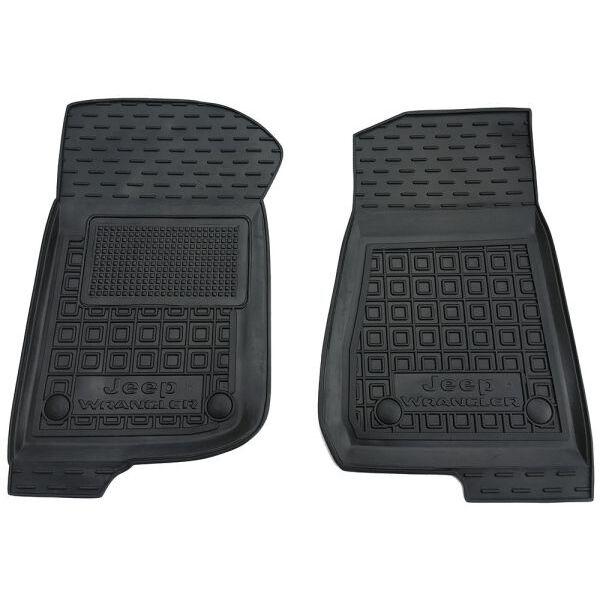 Передние коврики в автомобиль Jeep Wrangler 2018- 2/4 двери (Avto-Gumm)