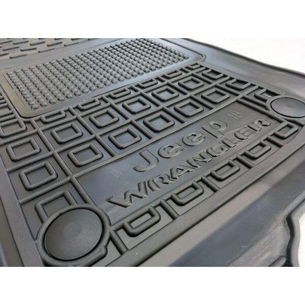 Водительский коврик в салон Jeep Wrangler 2018- 2/4 двери (AVTO-Gumm)