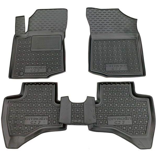 Автомобільні килимки в салон Citroen C1 2014- (Avto-Gumm)