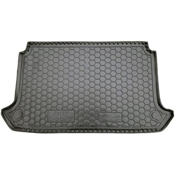 Автомобильный коврик в багажник Fiat Doblo 2000- (с решеткой) (Avto-Gumm)