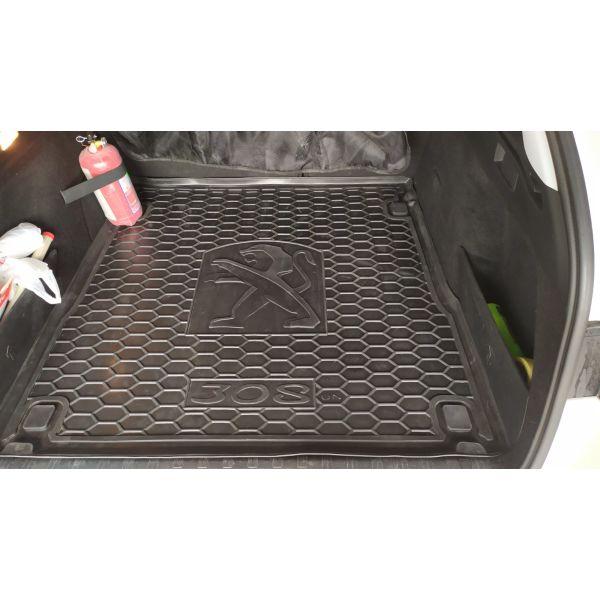 Автомобильный коврик в багажник Peugeot 308 2015- Universal (Avto-Gumm)