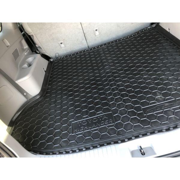 Автомобильный коврик в багажник Toyota Highlander 3 2014-2020 (7 мест) (Avto-Gumm)