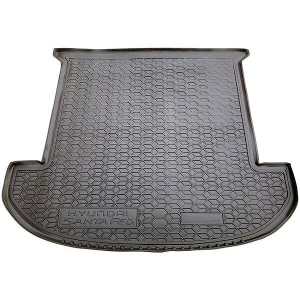 Автомобильный коврик в багажник Hyundai Santa Fe 2018- 7 мест (Avto-Gumm)