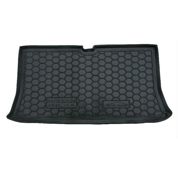 Автомобильный коврик в багажник Nissan Micra (K12) 2002- (Avto-Gumm)
