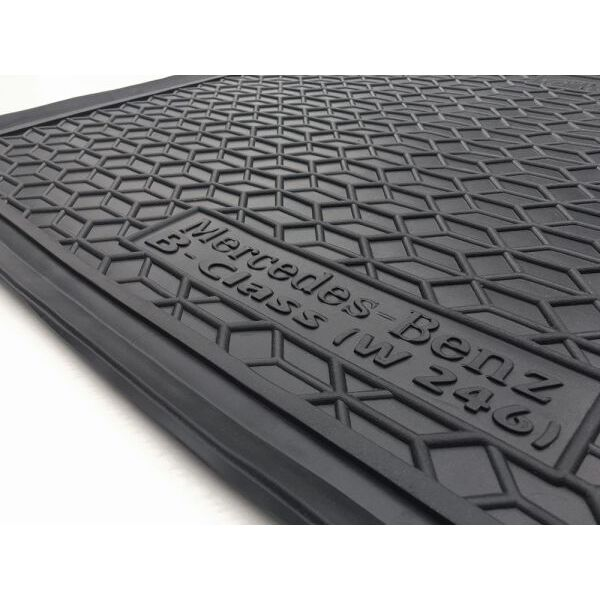 Автомобильный коврик в багажник Mercedes B (W246) 2014- Electric Drive (Avto-Gumm)